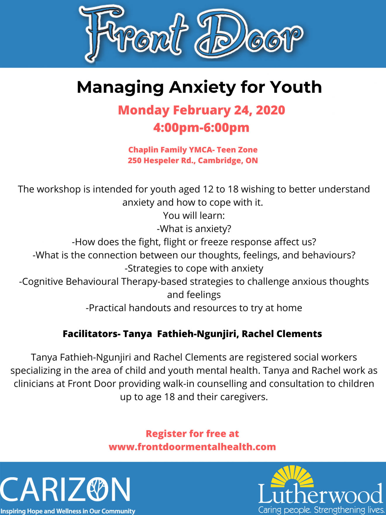 Anxiety Workshop-February